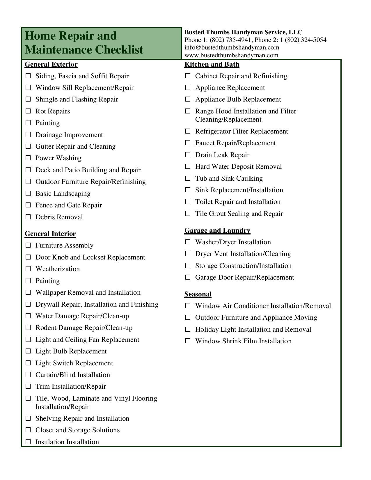 Kitchen Renovation Checklist Template