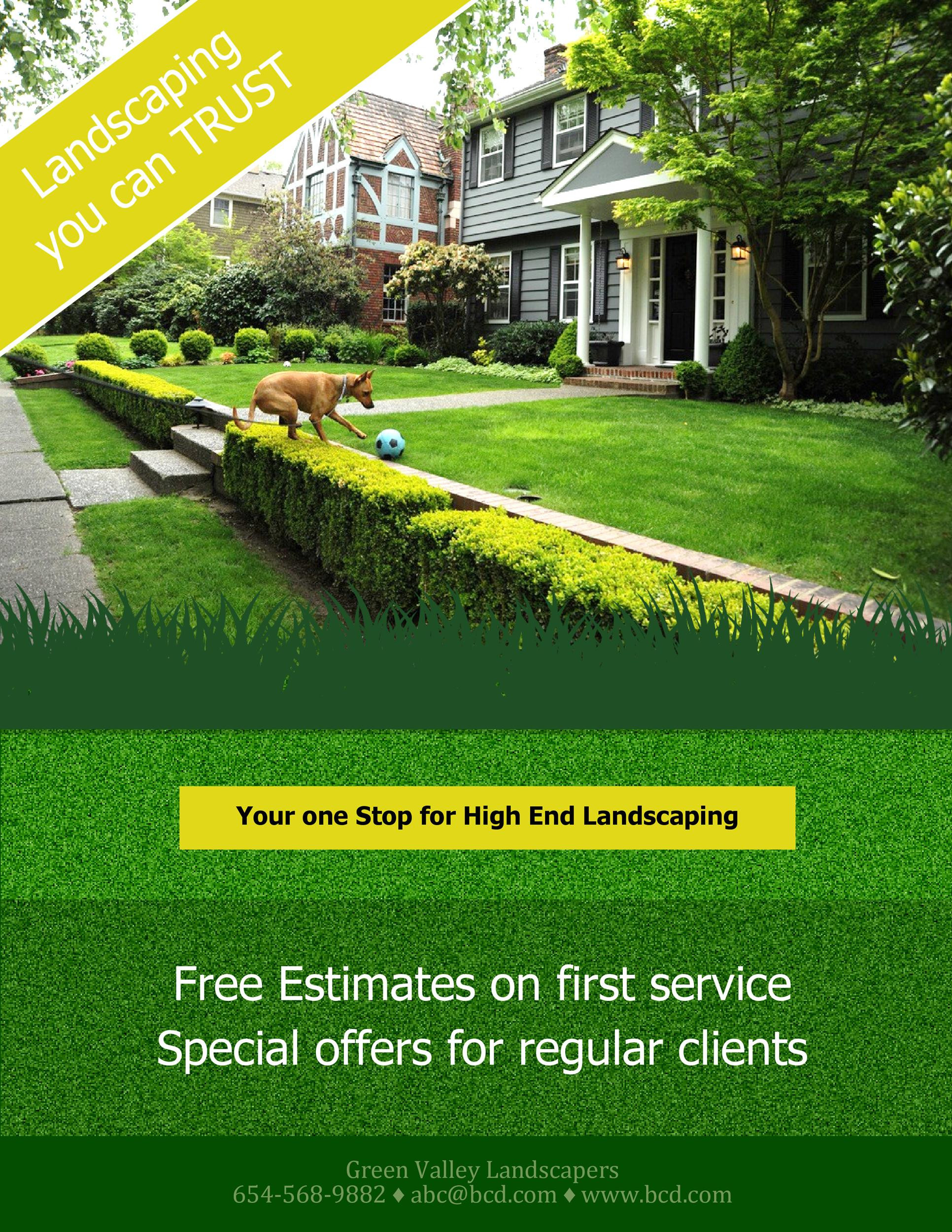 Lawn Mowing Flyer Template