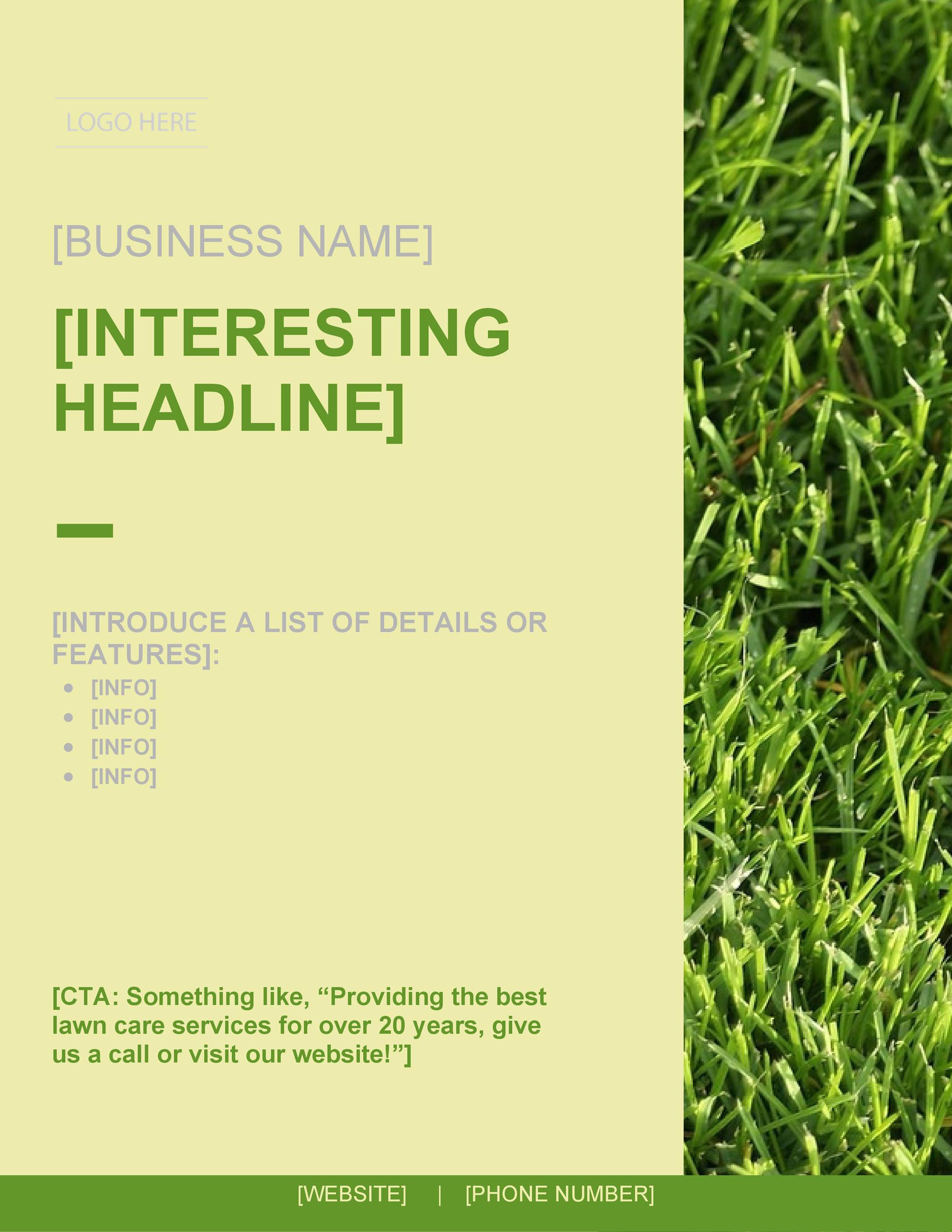 30 Free Lawn Care Flyer Templates [Lawn Mower Flyers]