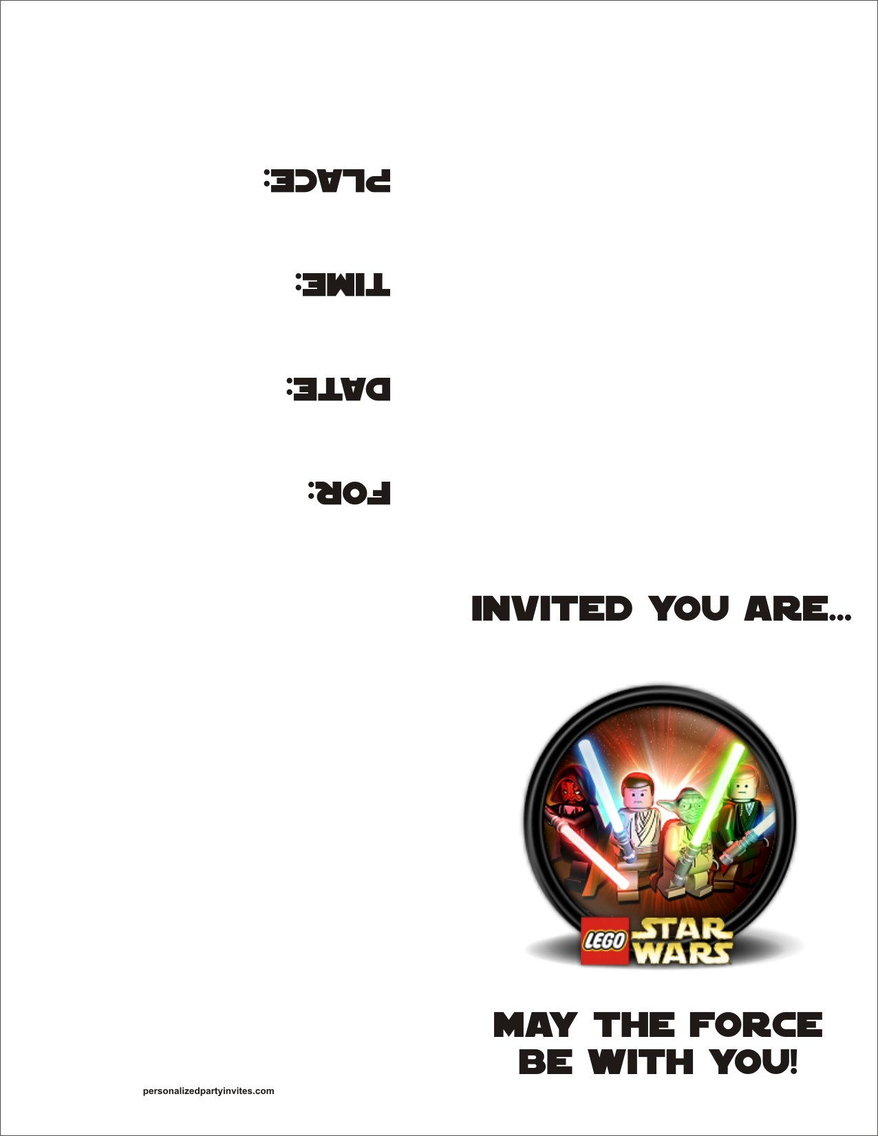Lego Birthday Invitation Template
