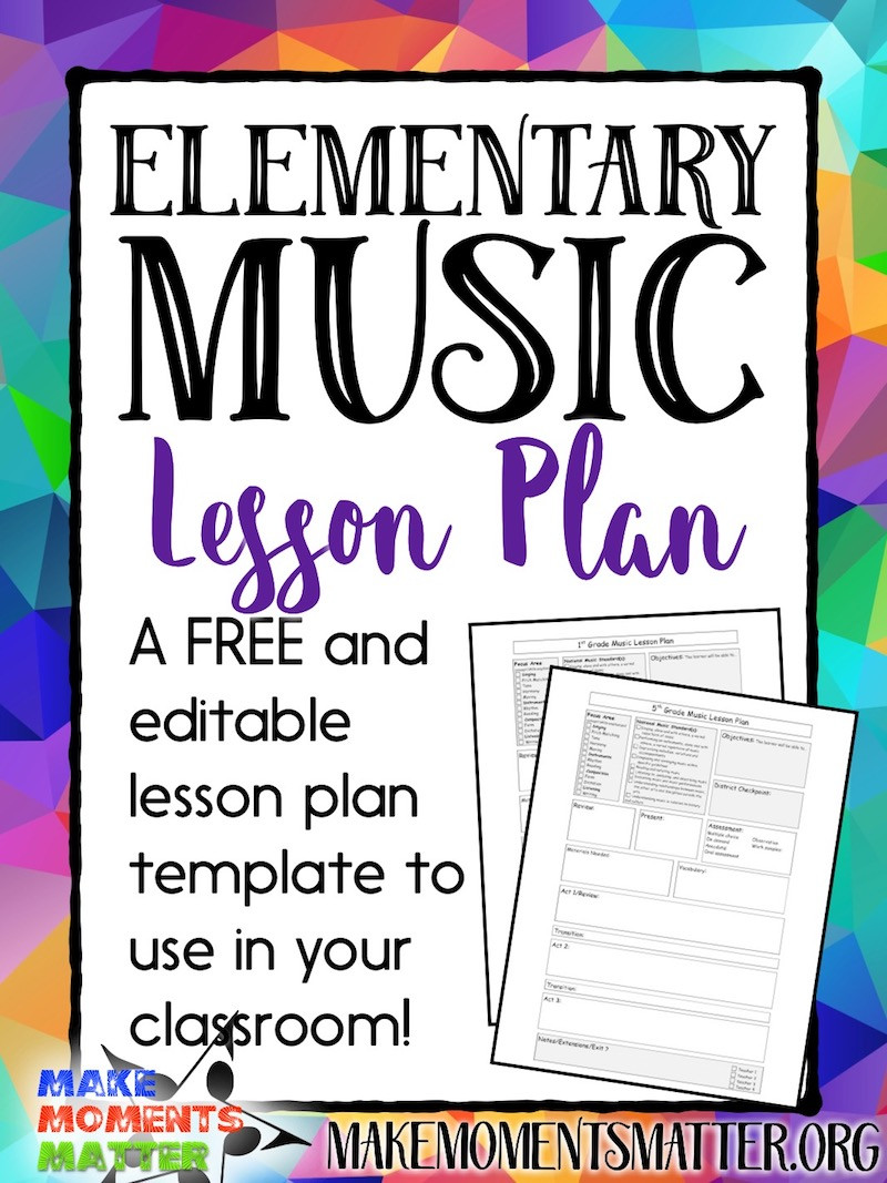 Lesson Plan Template Editable