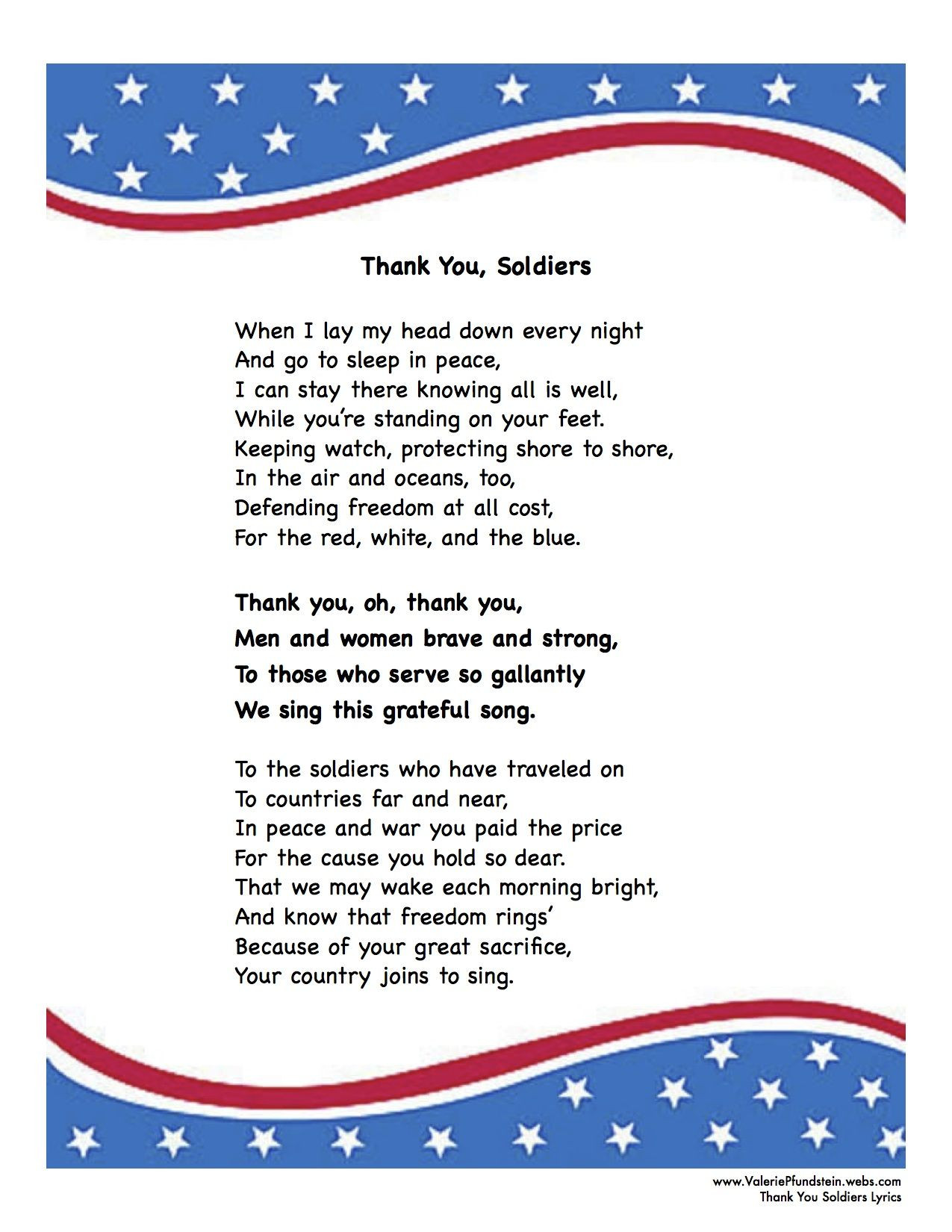 Letter to soldiers Template
