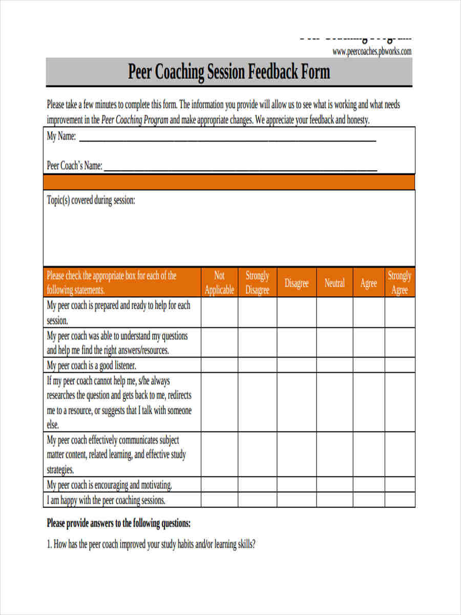 Life Coaching Session Template