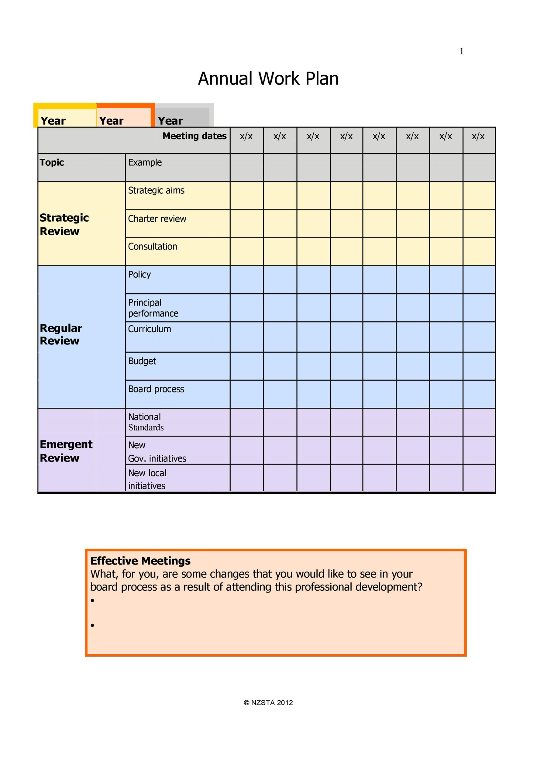 Work Plan 40 Great Templates & Samples Excel Word