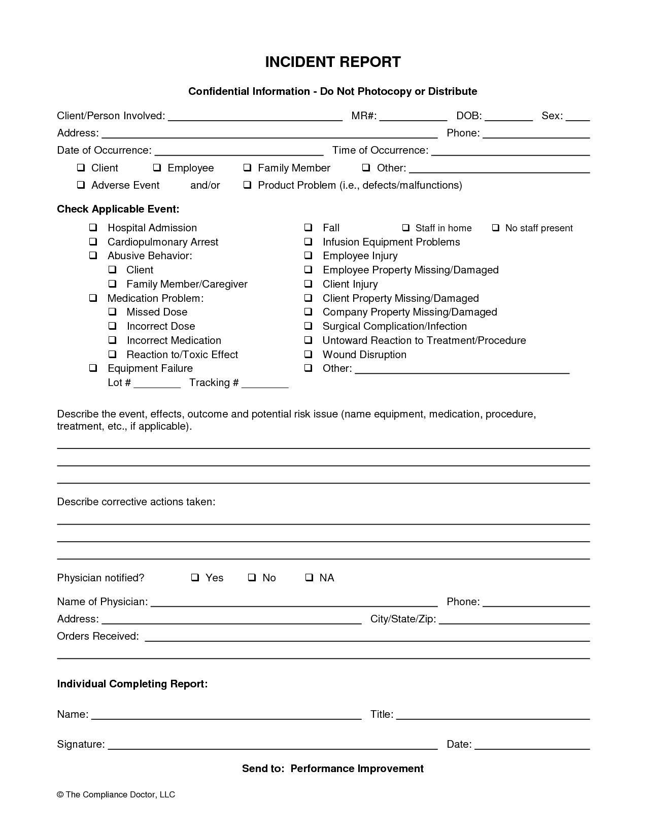 Medication Release form Template