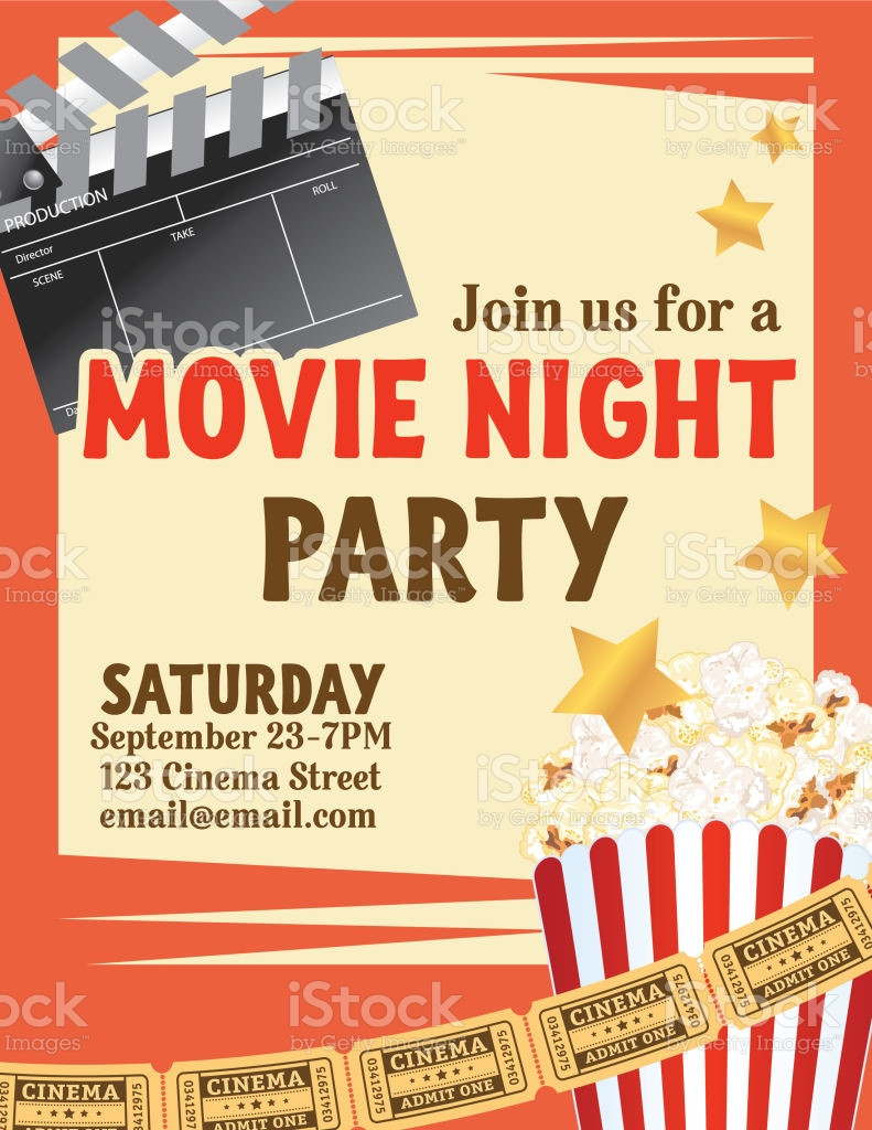 Movie Night Invite Template