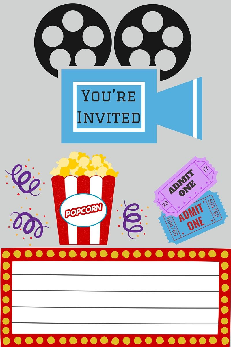 FREE PRINTABLES PRINTABLE MOVIE NIGHT INVITE