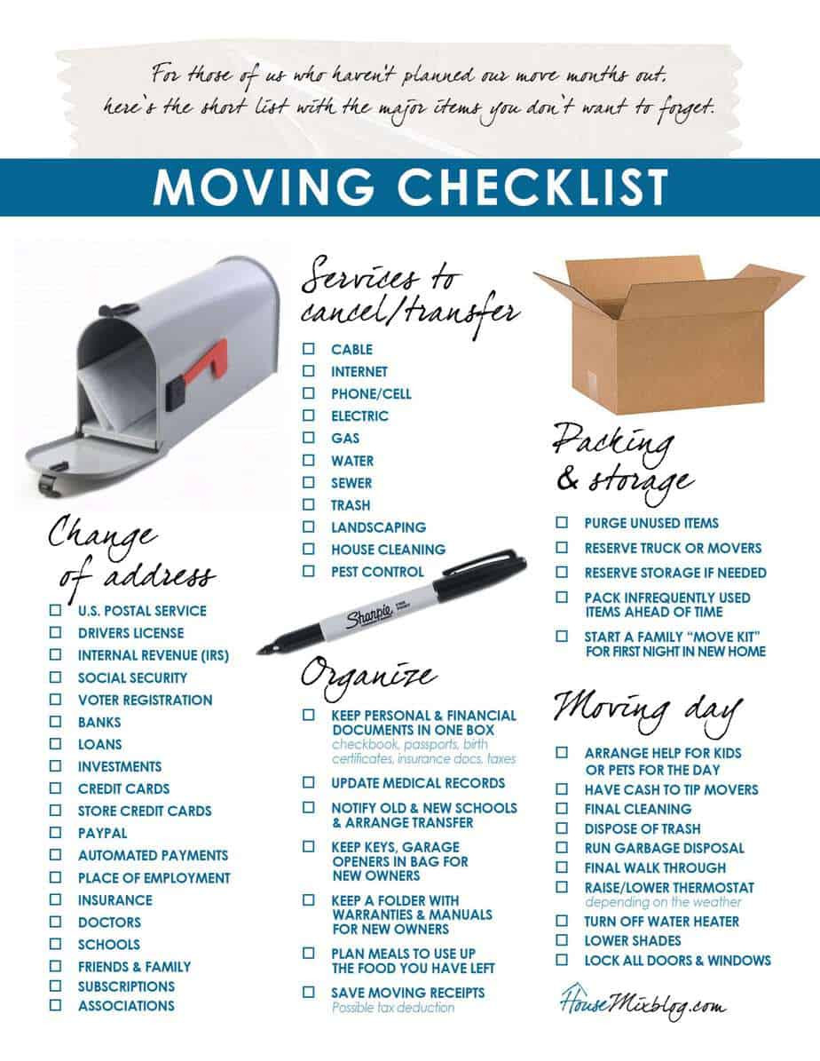 Moving Inventory List Template