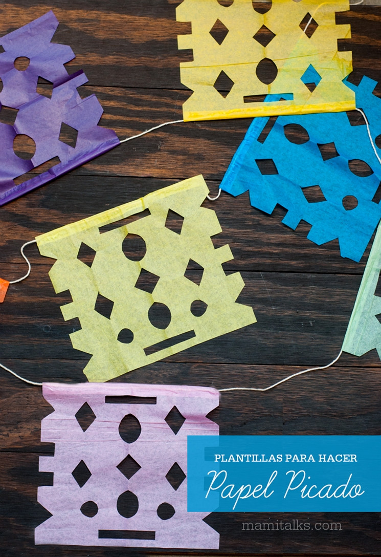 Papel Picado Template Wedding