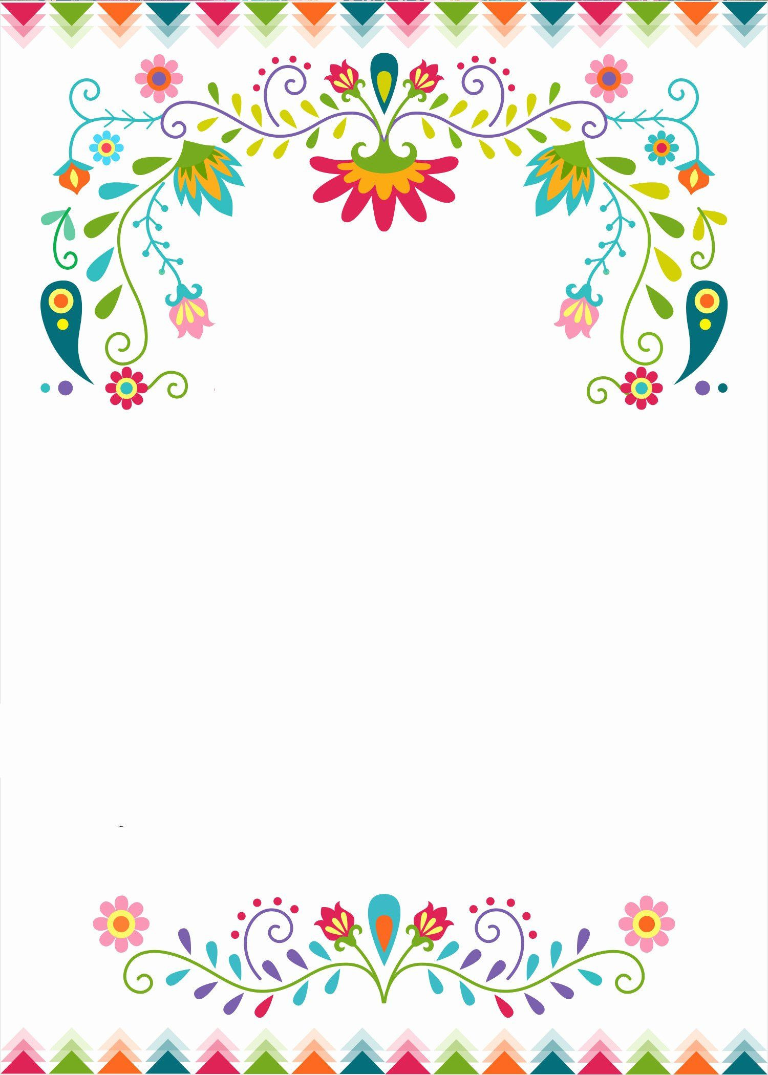 Papel Picado Wedding Invitation Template en 2020