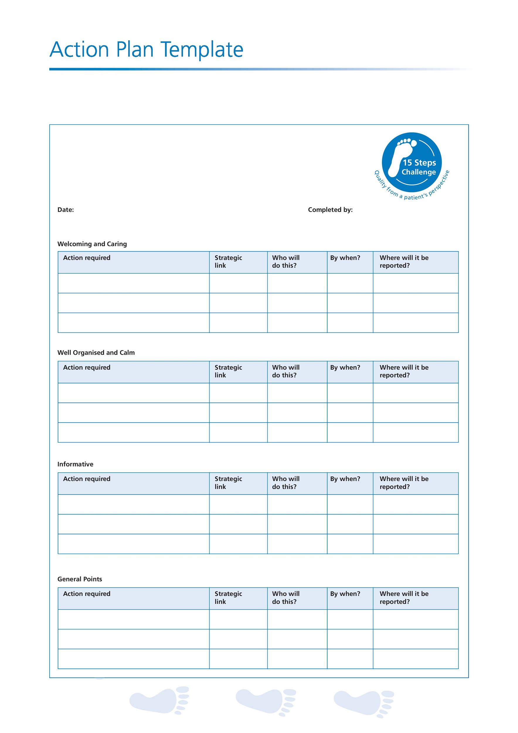 Personal Action Plan Template