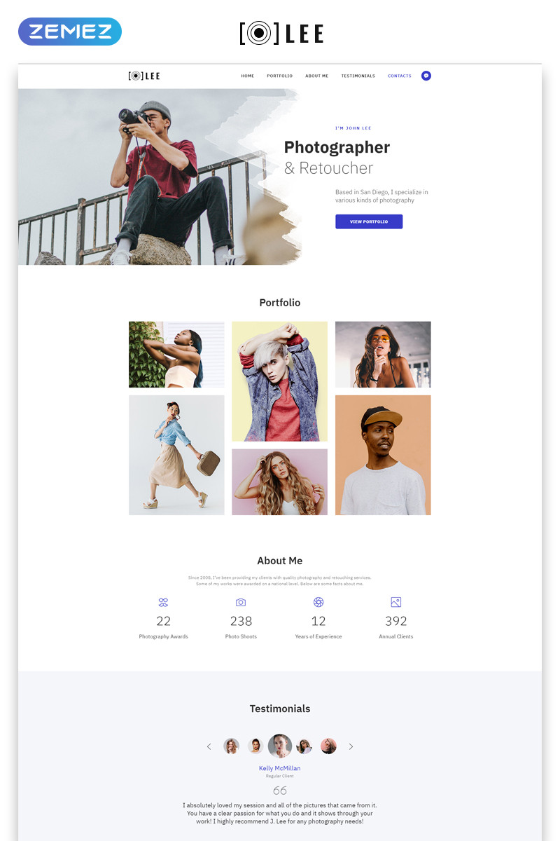 Photographer About Me Template