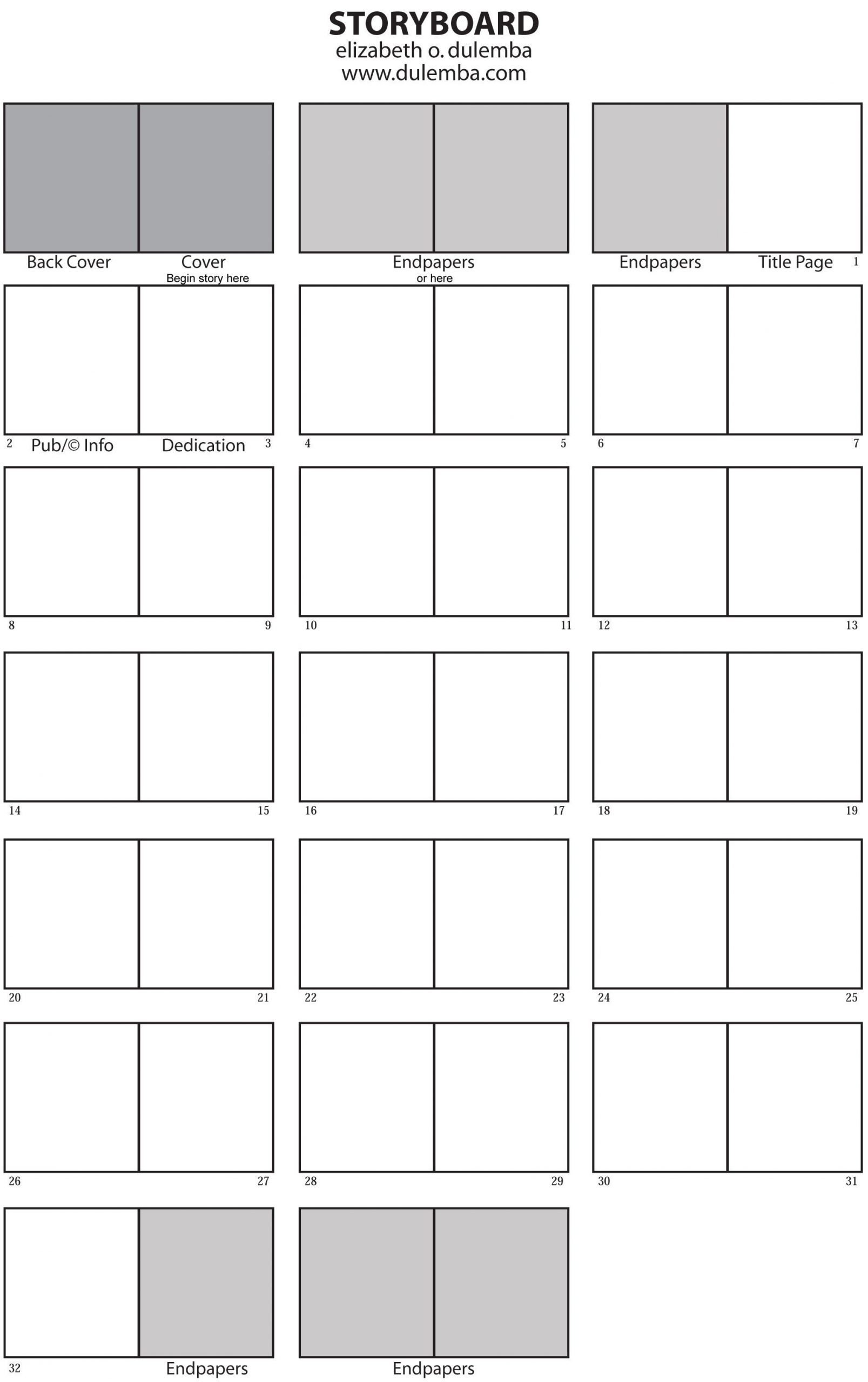 Picture Book Dummy Template