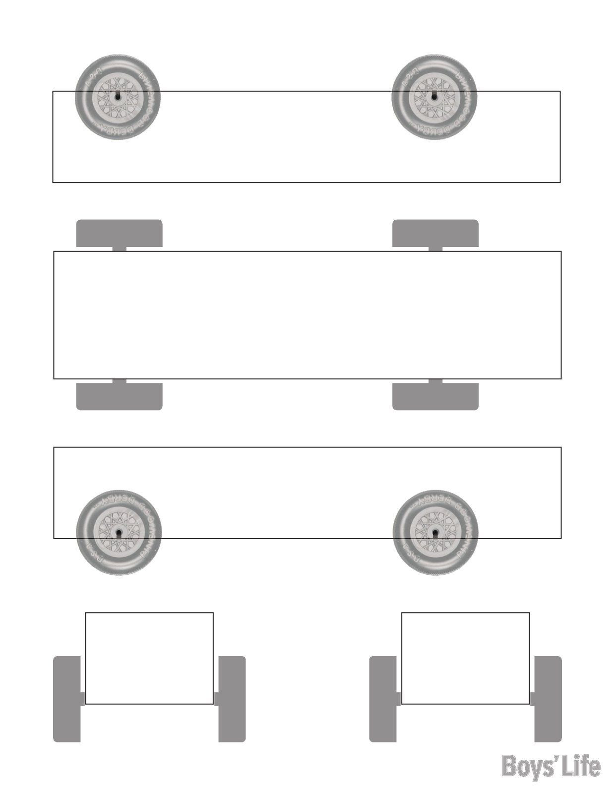 Pinewood Derby Template Free