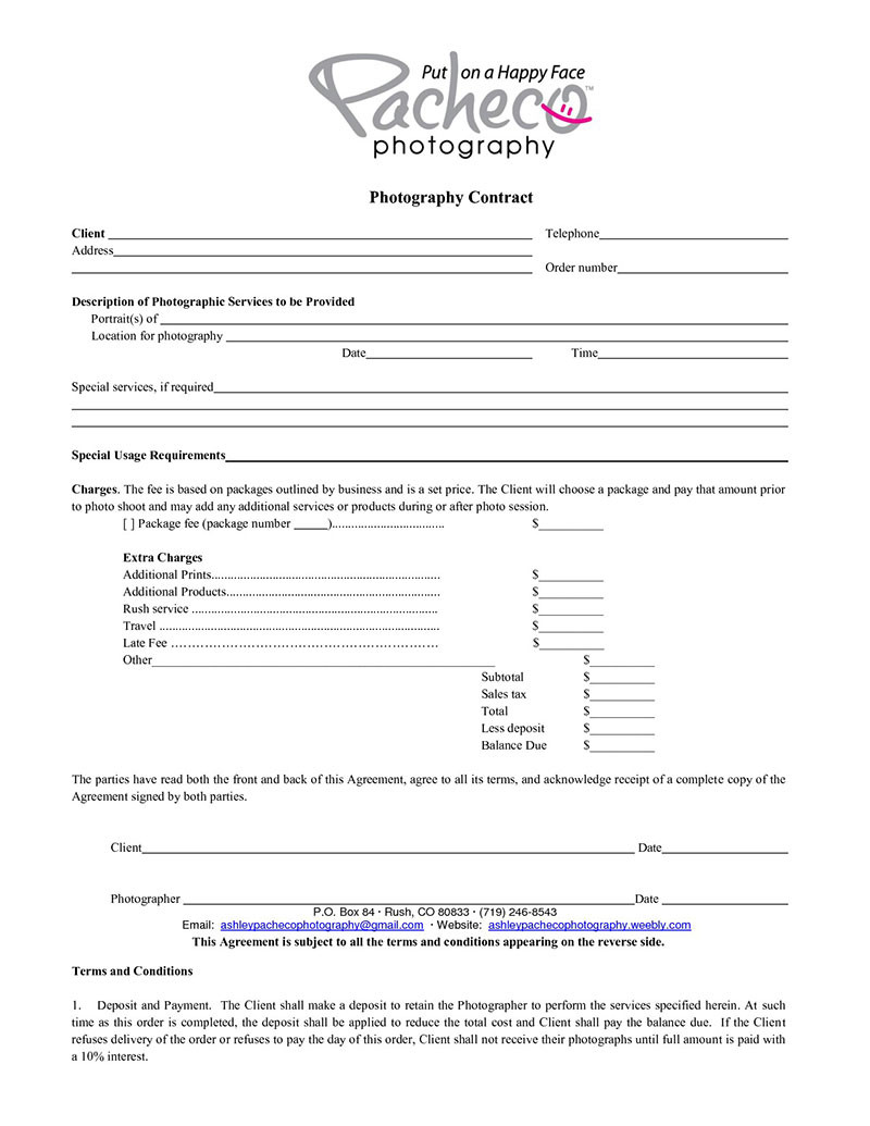 What Your graphy Contract Must Have Plus Good