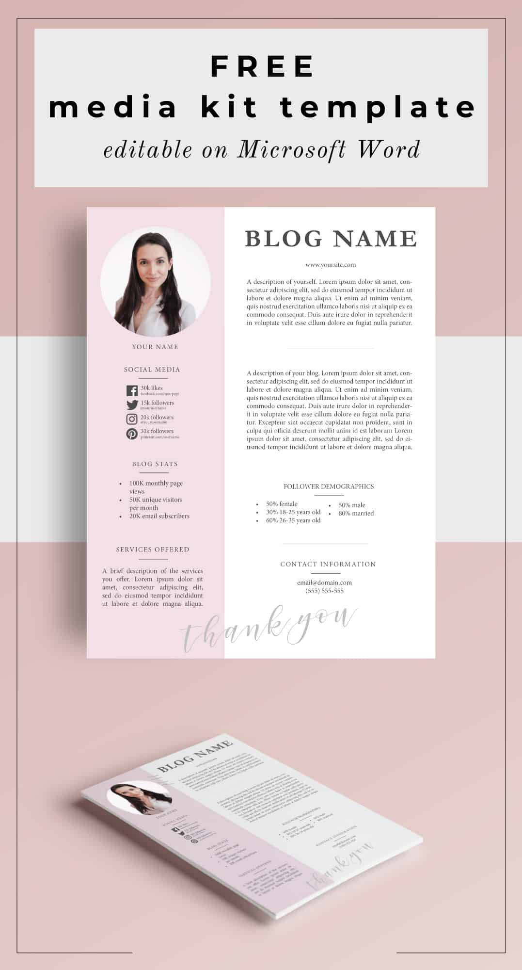 Press Kit Template Word
