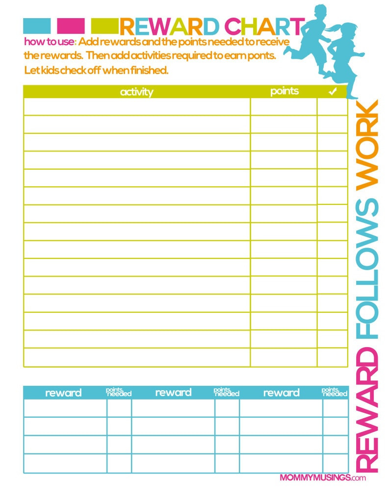 Printable Chore Chart Template
