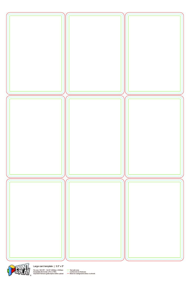 Playing Cards Formatting & Templates Print & Play