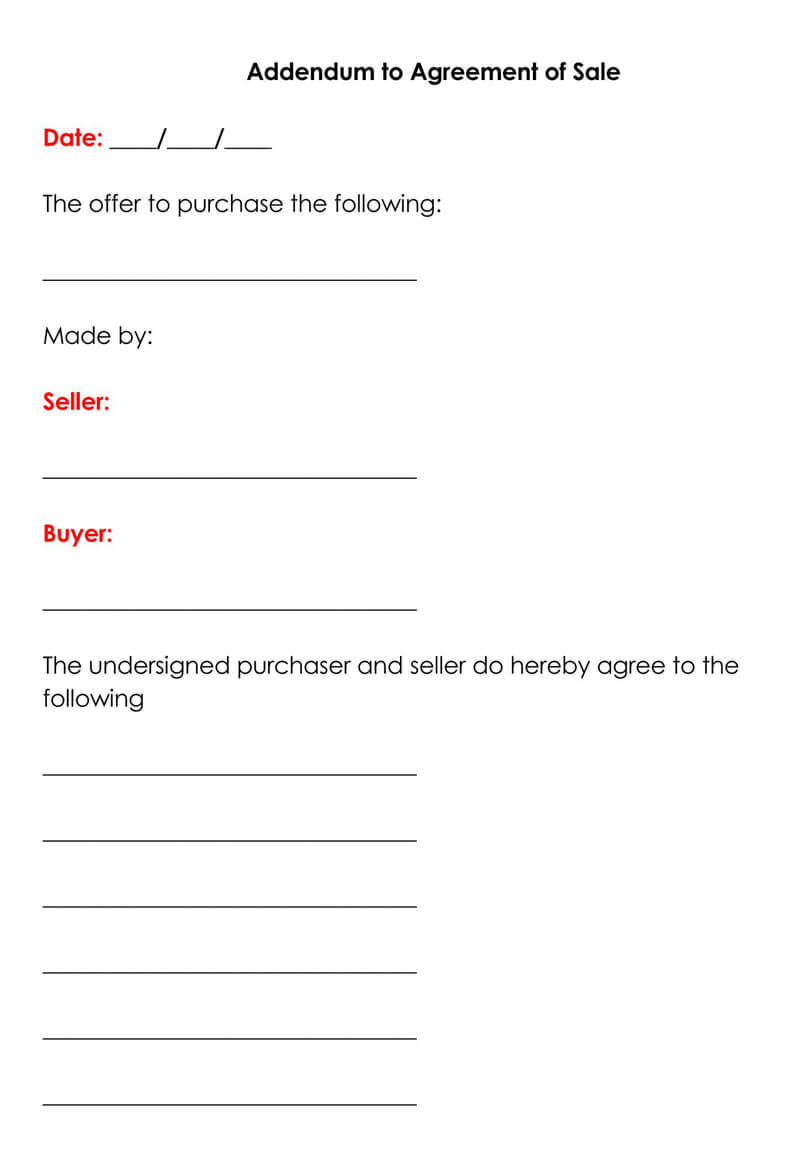 Purchase Agreement Template Word