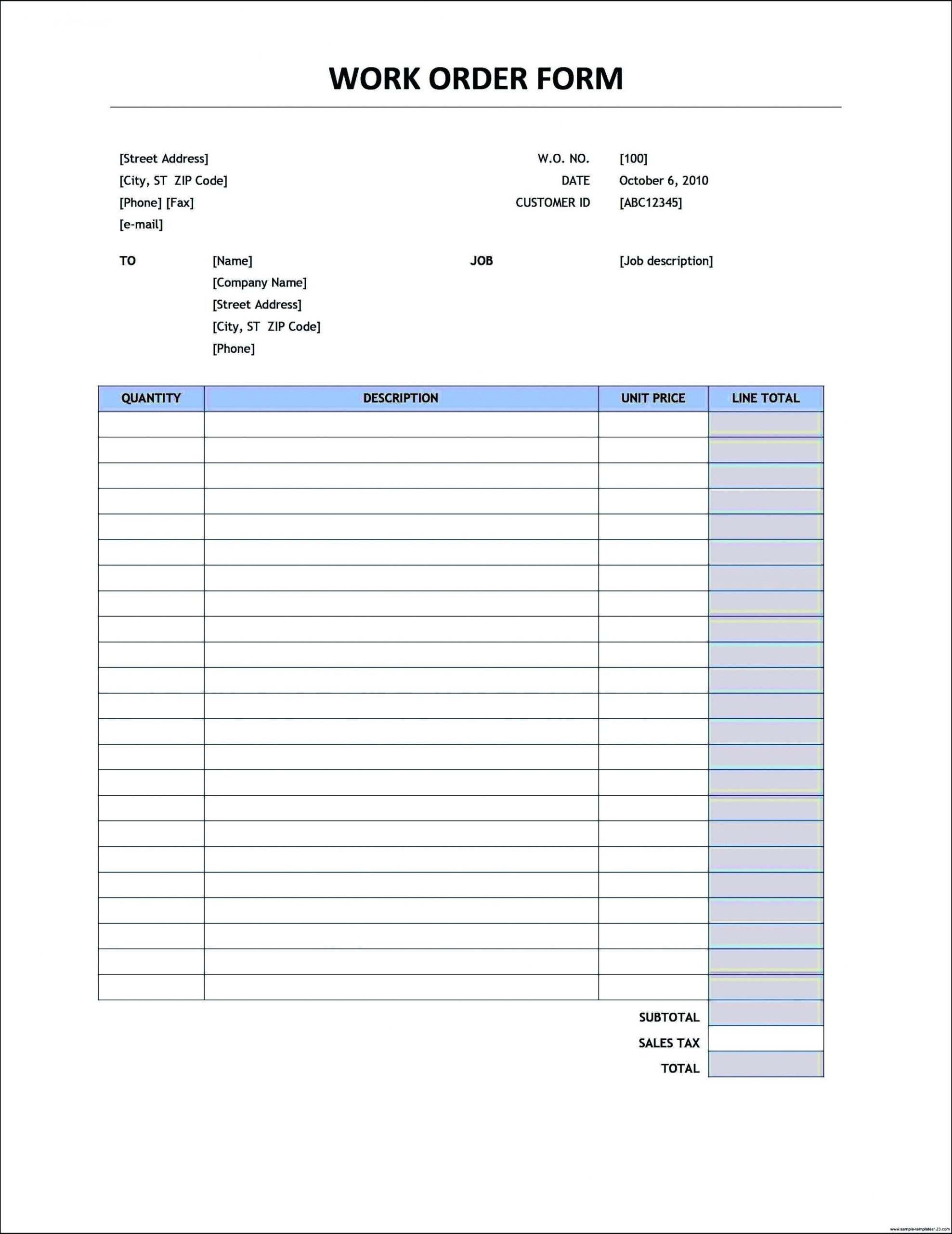 Purchase order Excel Template