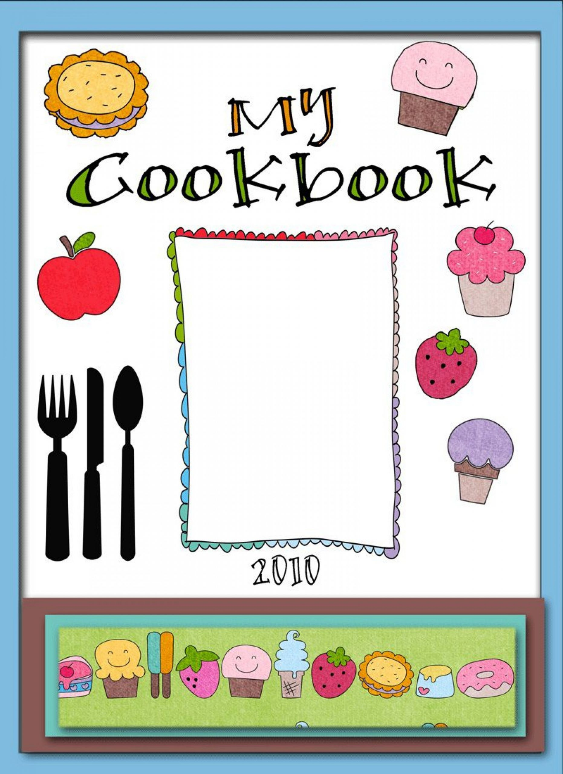 Recipe Book Cover Template Addictionary