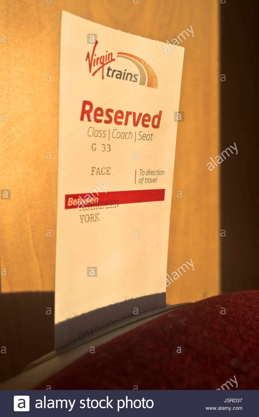 Reserved Seat Sign Template