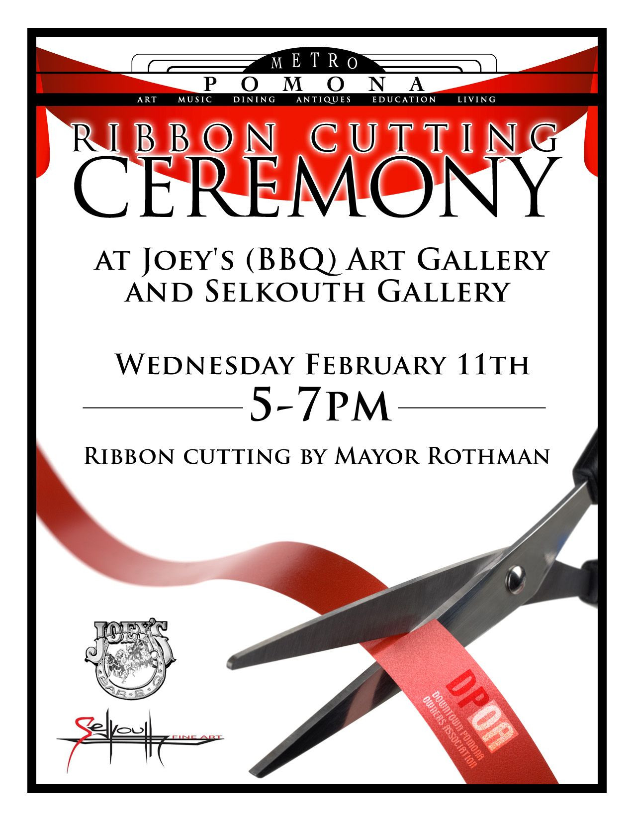 Ribbon Cutting Invitation Template