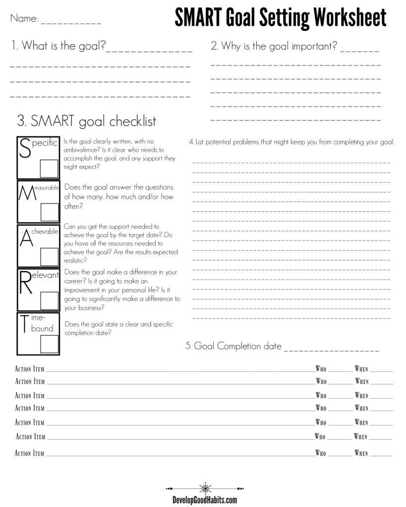 4 Free SMART Goal Setting Worksheets and Templates