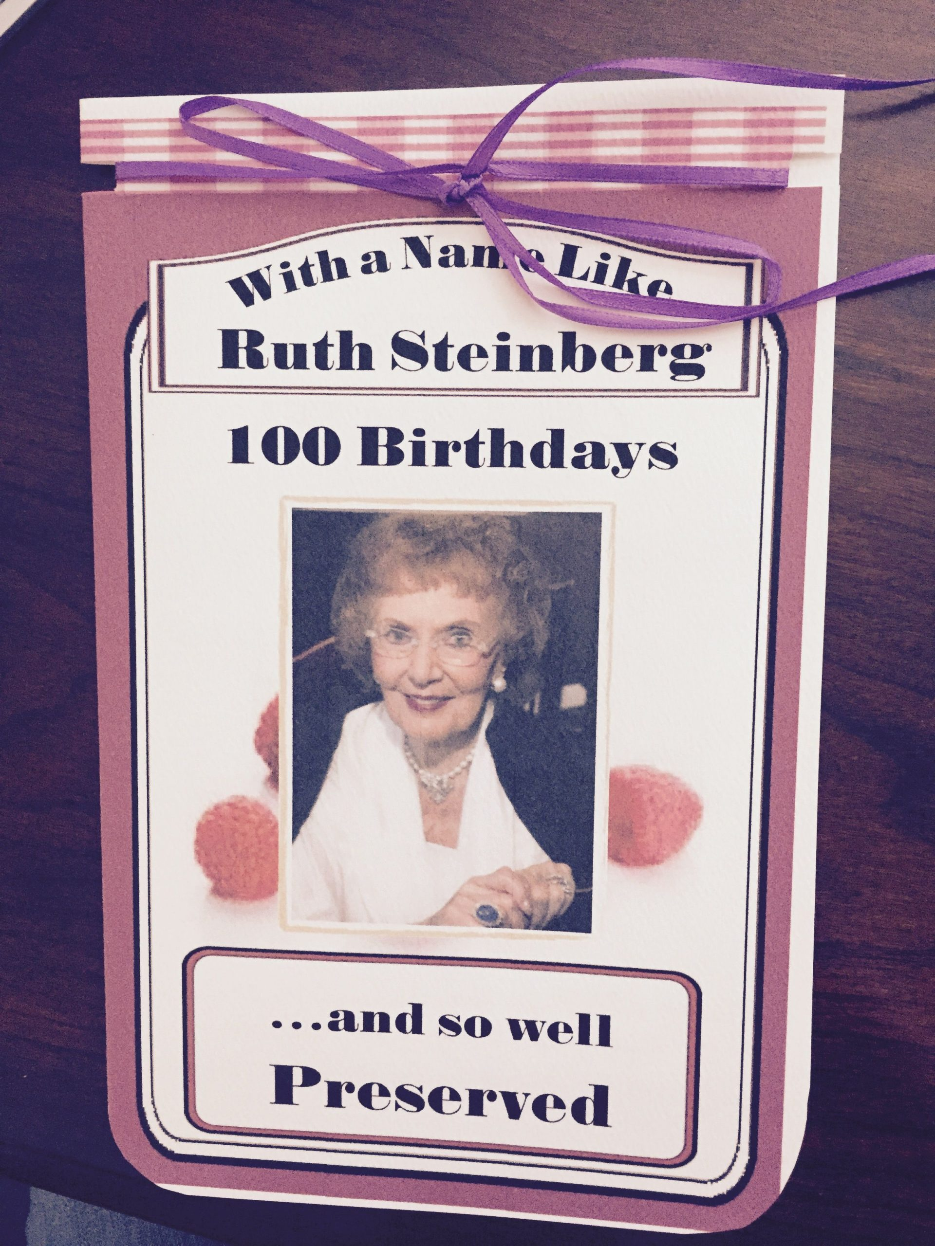 100 Years old Birthday Party Invitation with Smucker s theme