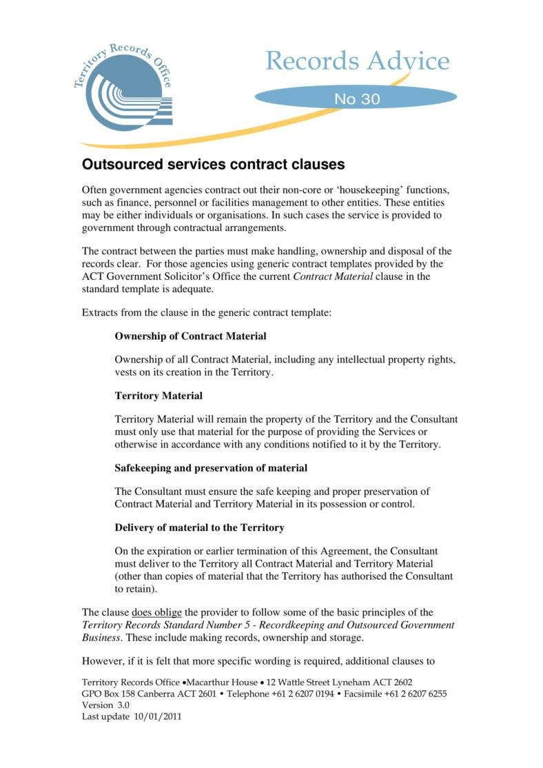Snow Plow Contract Template