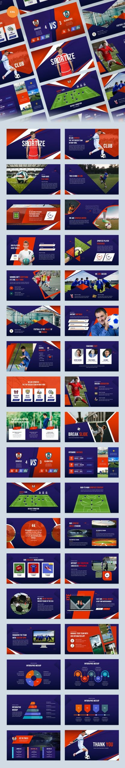 Soccer Player Profiles Template