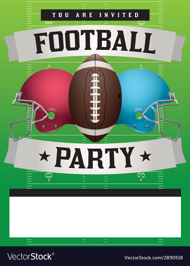 Superbowl Party Invitation Template