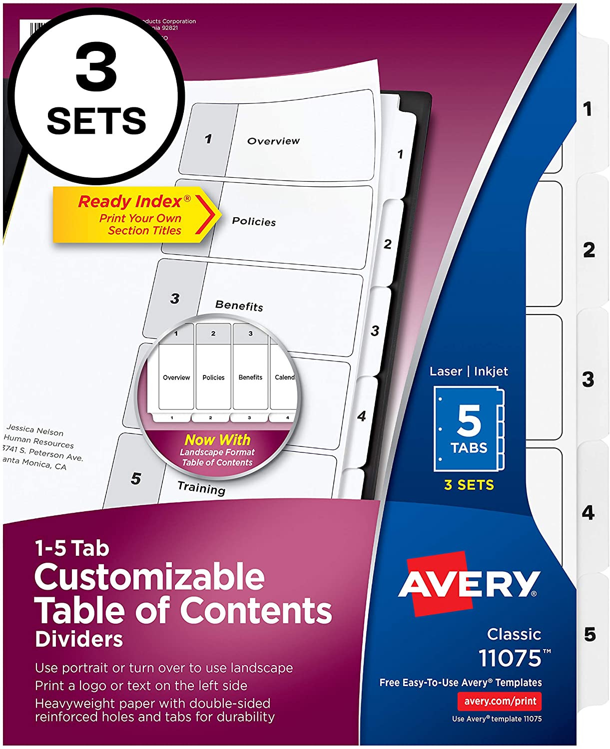 Tab Divider Template Free