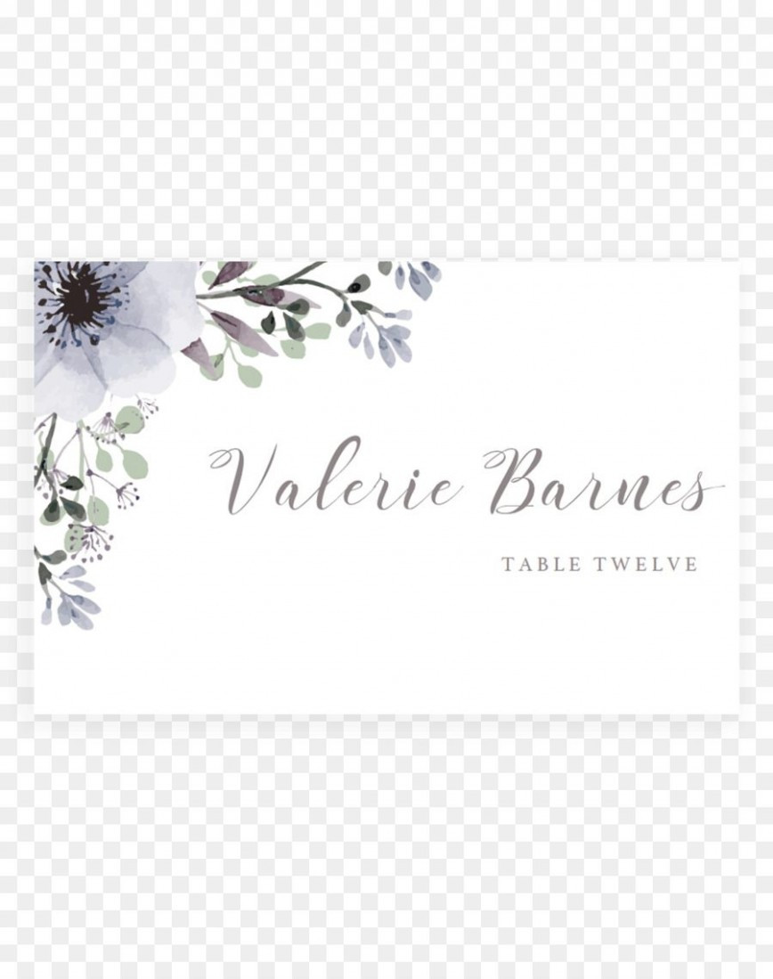 Table Place Cards Template