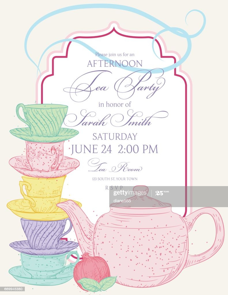 Tea Party Invite Template