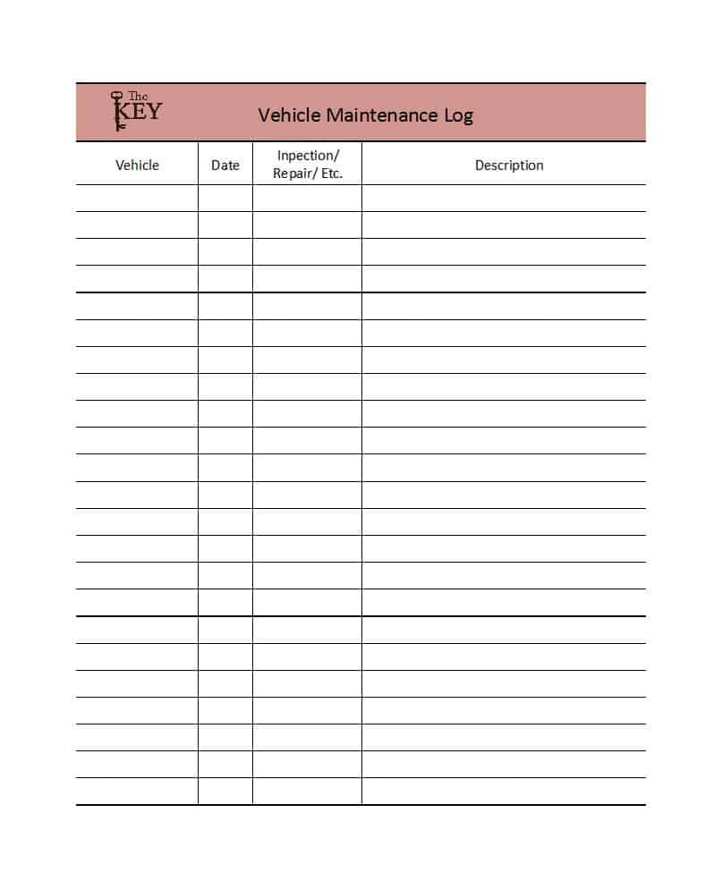 Truck Maintenance Checklist Template