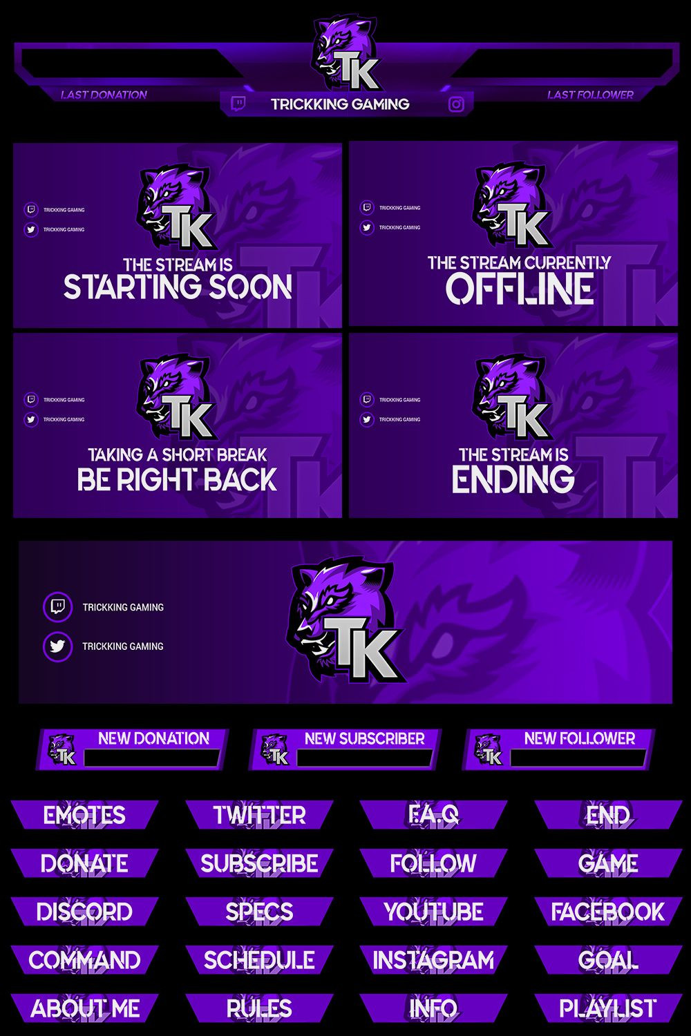 Twitch Overlay Template Download
