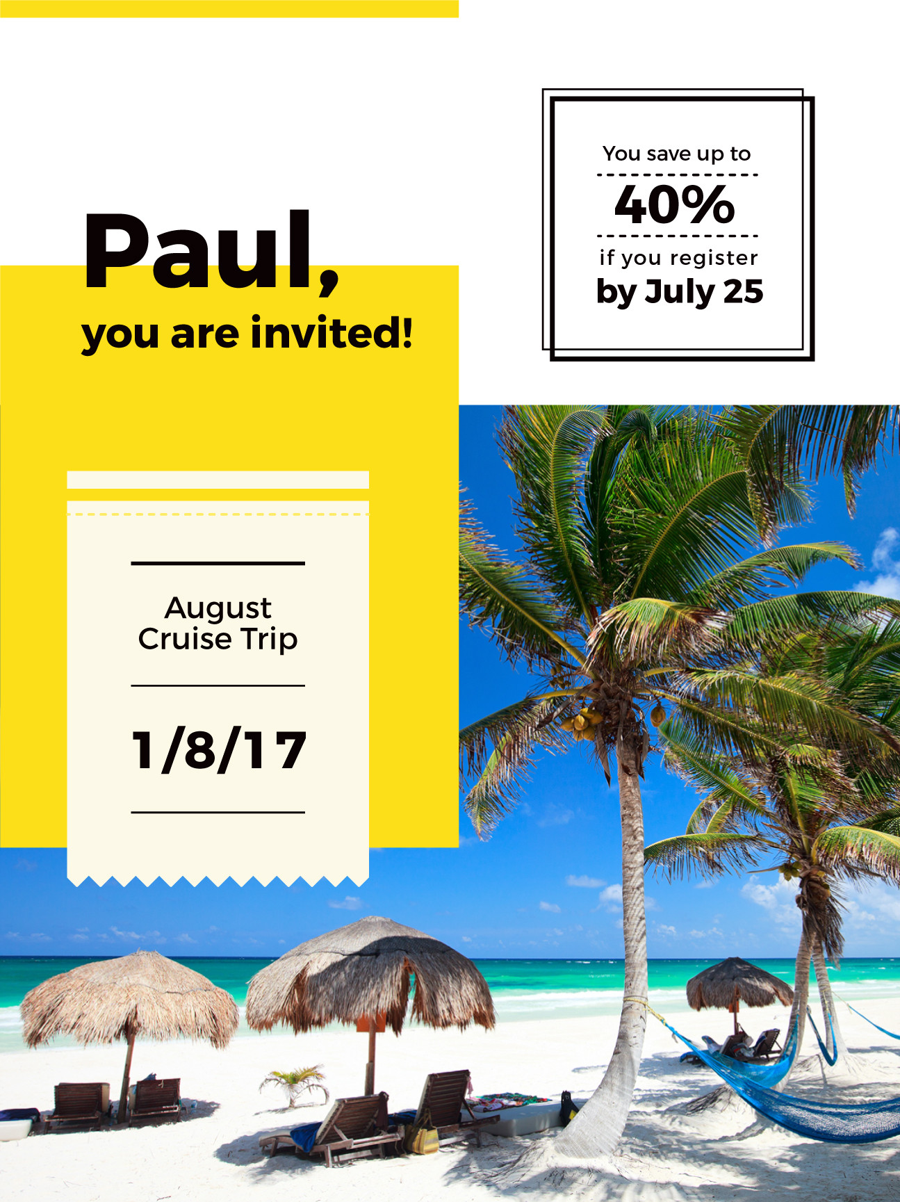 Vacation Gift Certificate Template