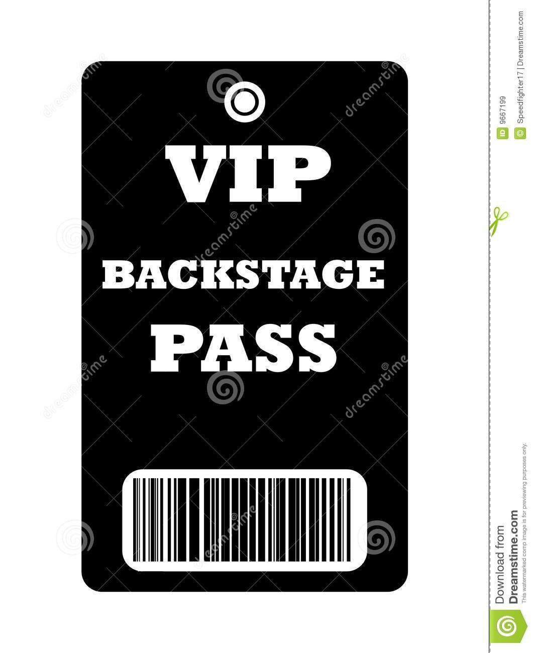 30 Free Printable Vip Pass Template in 2020