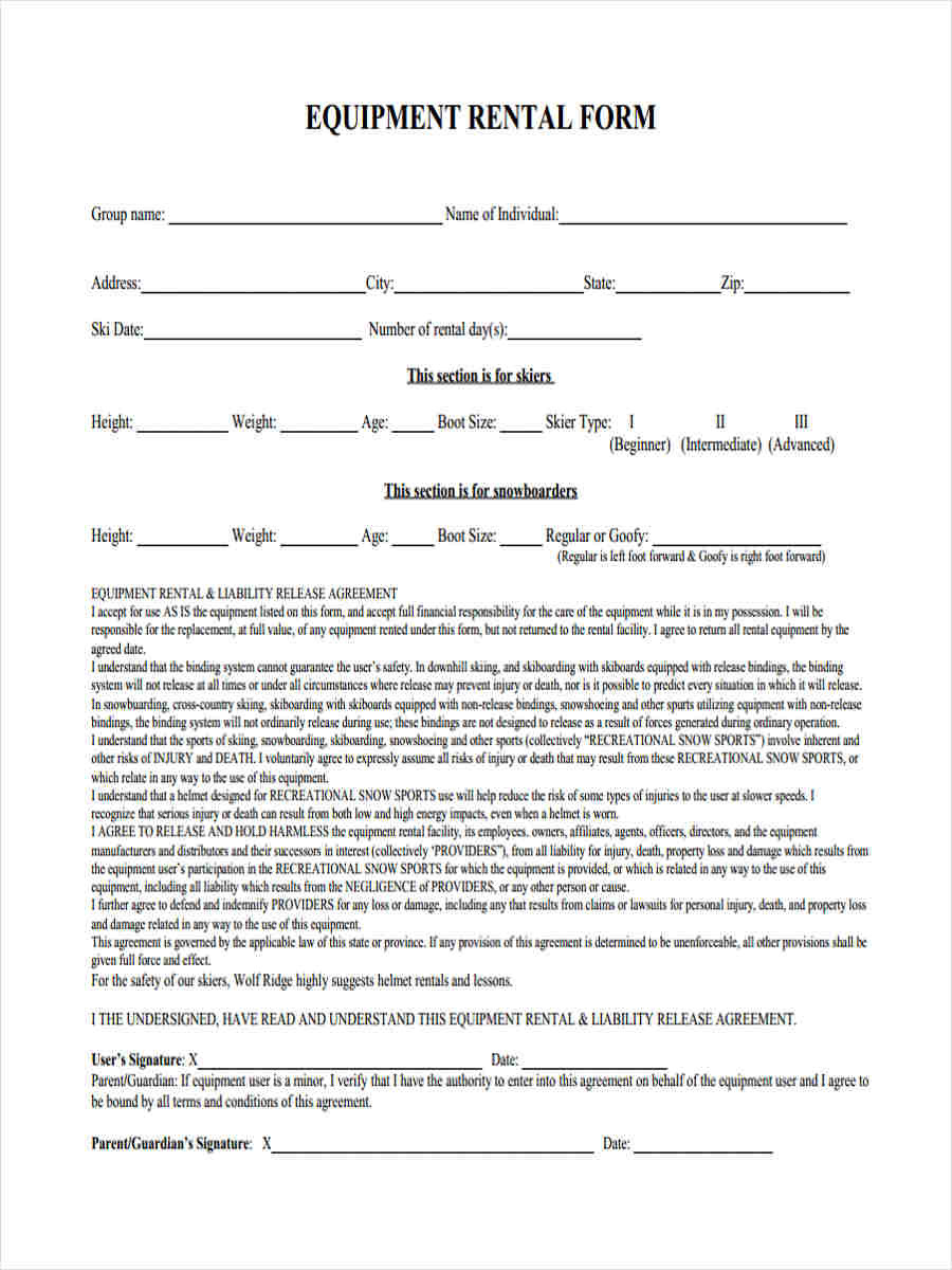 Waiver Of Liability Template