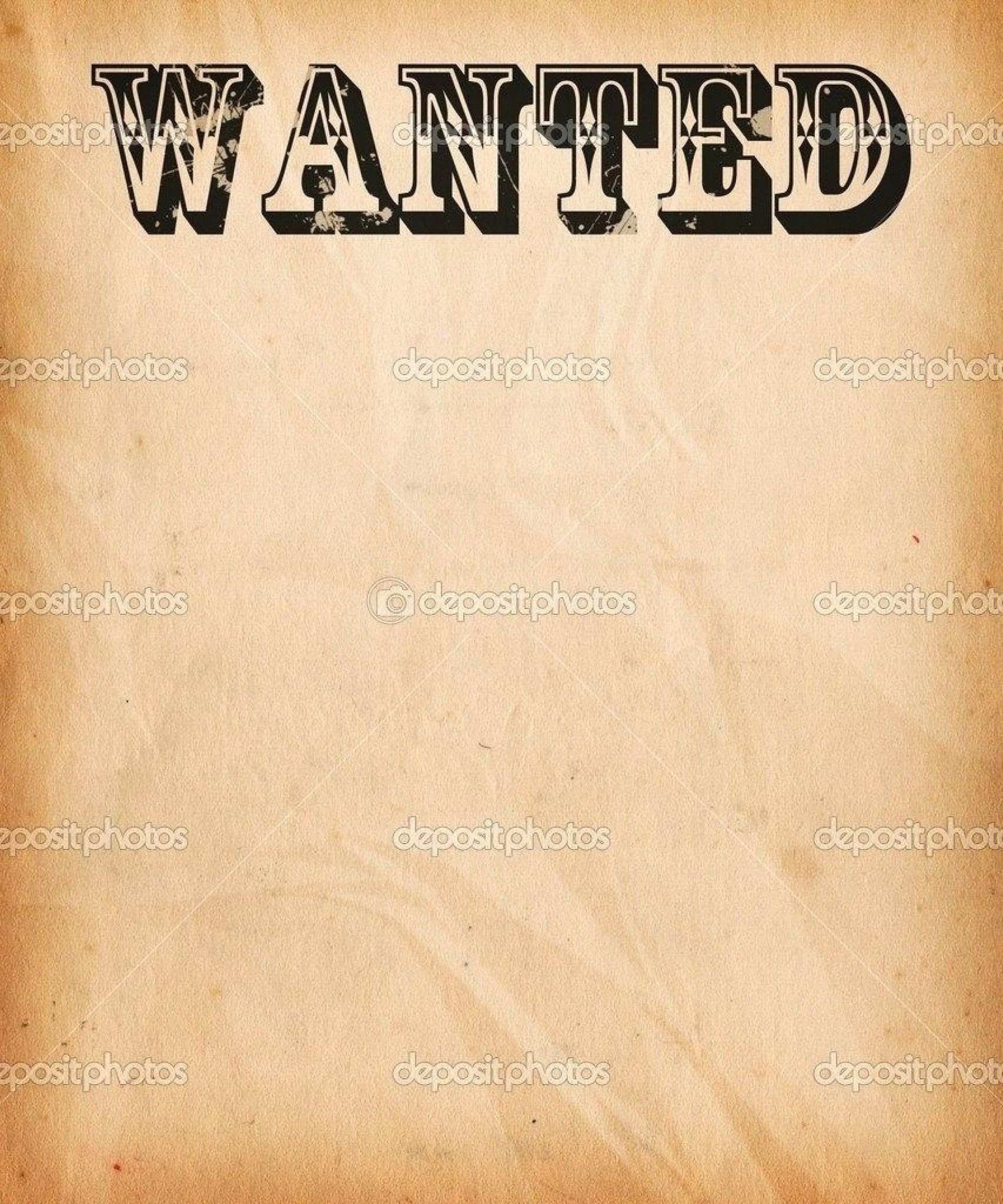 Wanted Poster Template Pdf