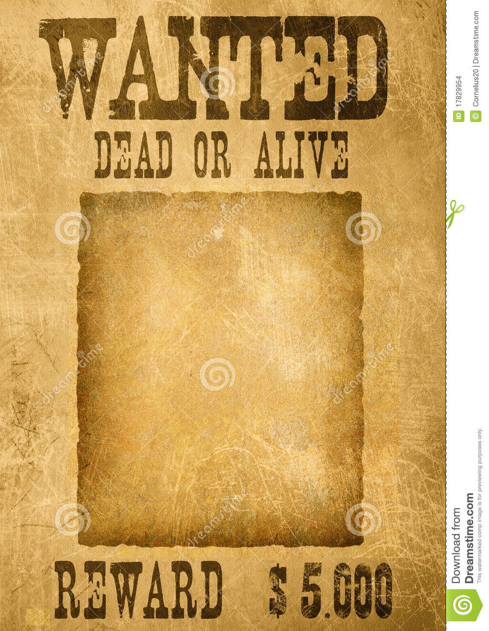 Wanted Poster Template Photoshop
