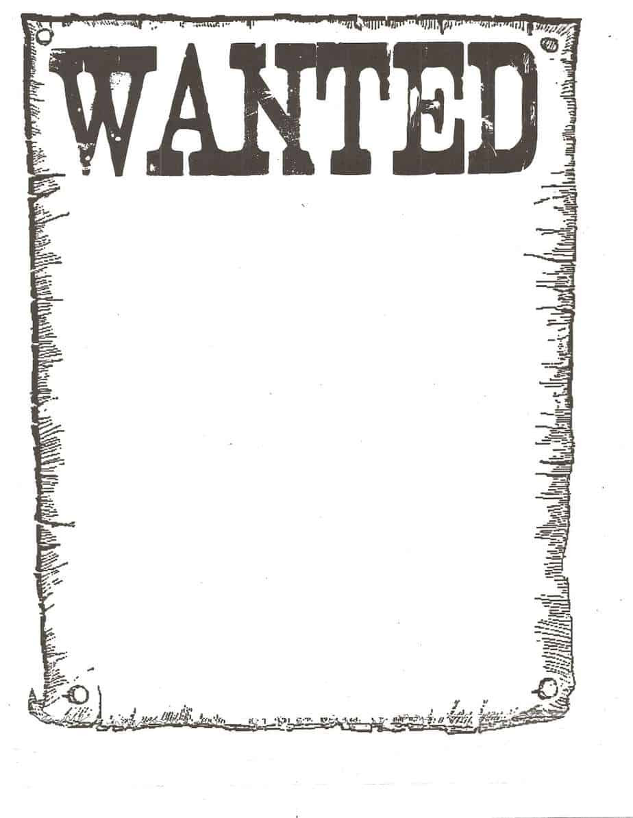 Wanted Poster Templates Word Excel Fomats