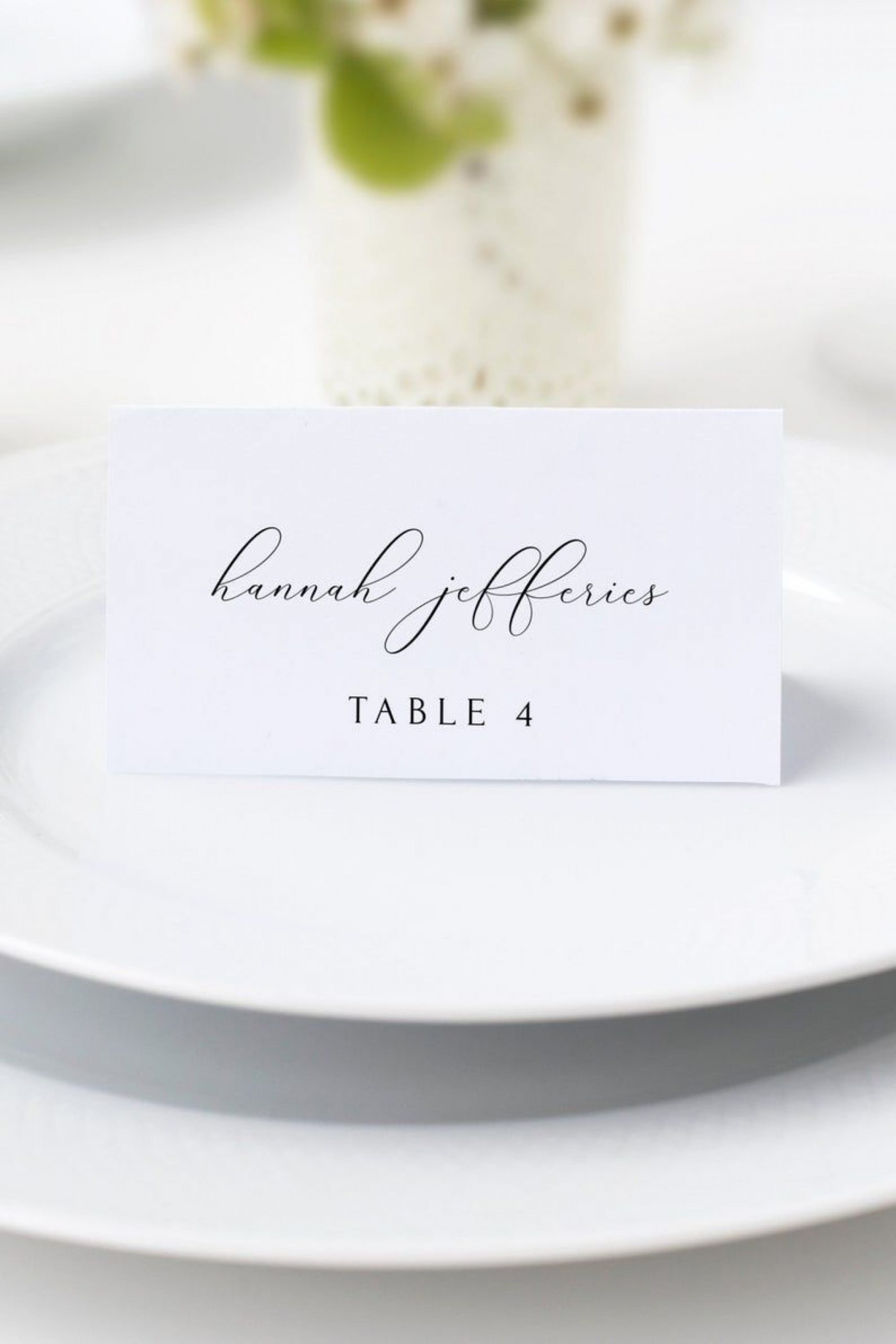 Wedding Escort Card Template