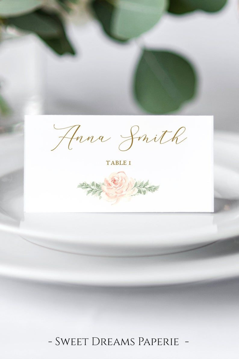 Pin on Wedding Reception Place Cards