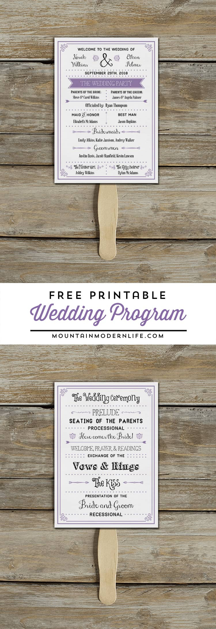 Wedding Program Template Download