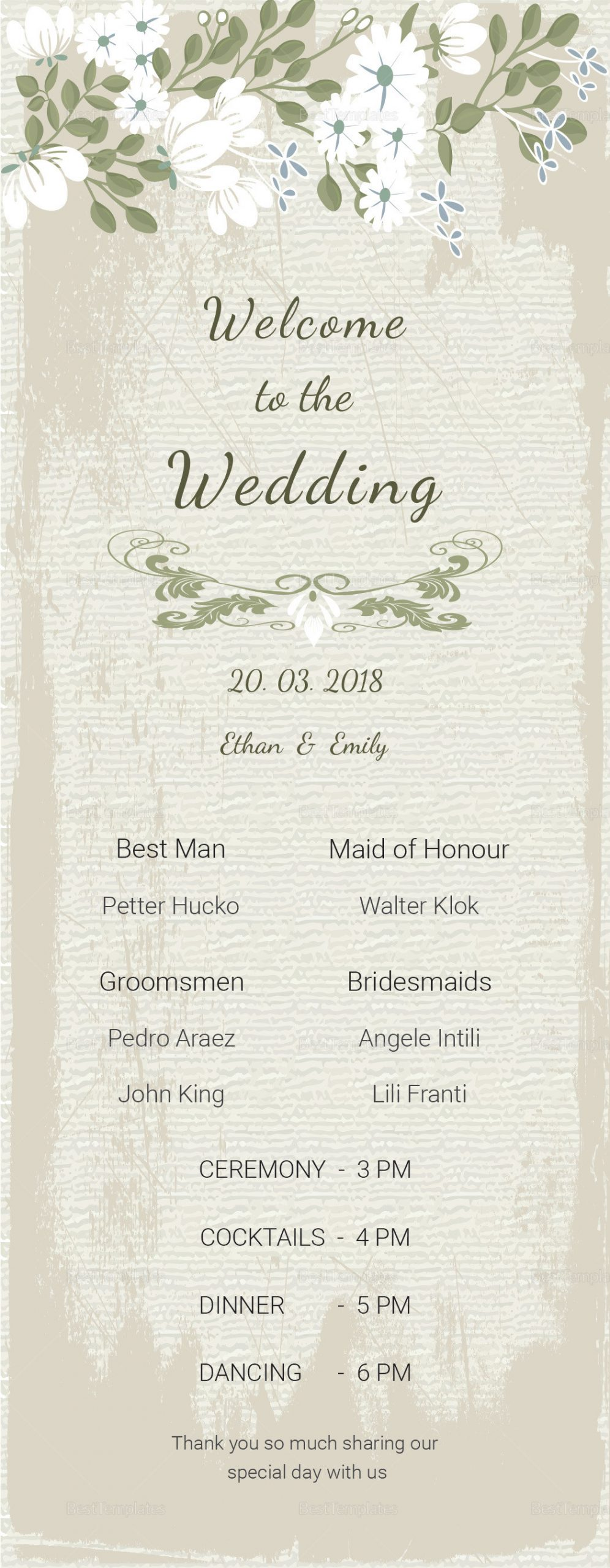 Wedding Program Template Publisher
