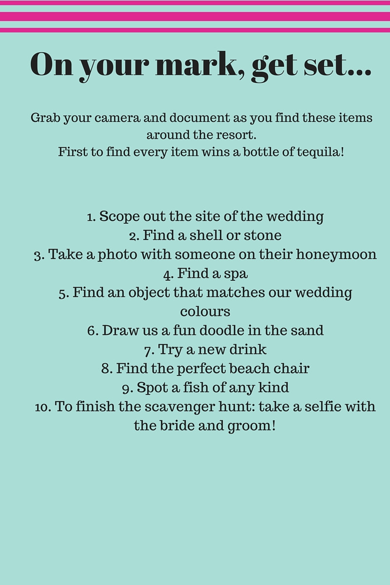 Wedding Scavenger Hunt Template