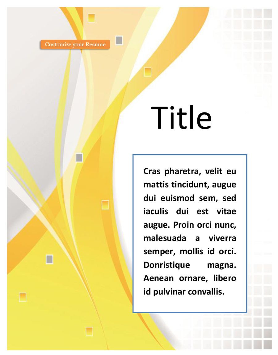 Word Cover Pages Template