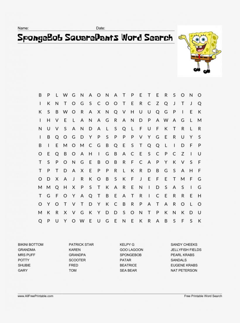 Word Search Template Free